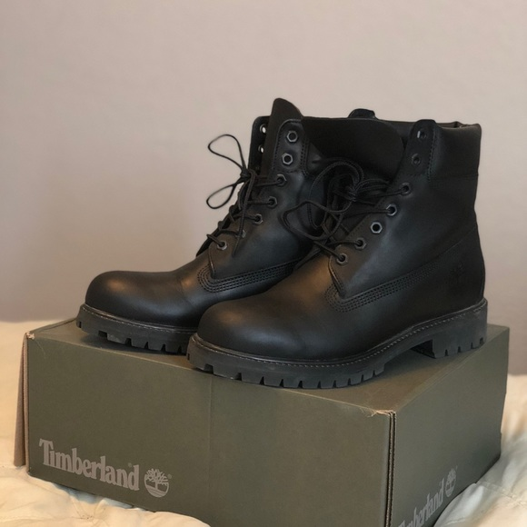 men's black leather timberland boots